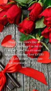 """Happy Valentine's Day 💝 Today is celebrated as the the day of """"Love"""" but it's more important to show love EVERY DAY. Life is short, appreciate each moment as if it is your last."""